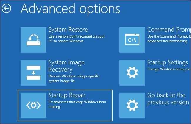 Windows Startup Repair