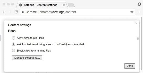 Block Sites from Flash Player