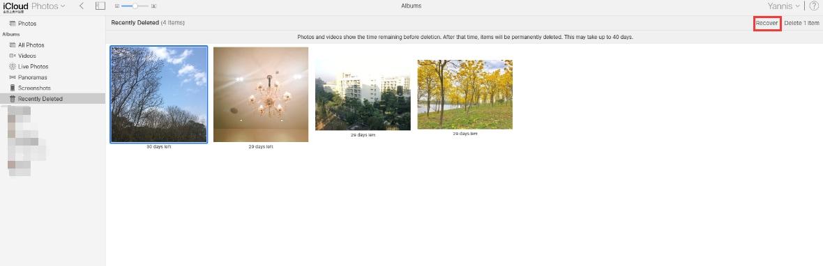 icloud photos recover