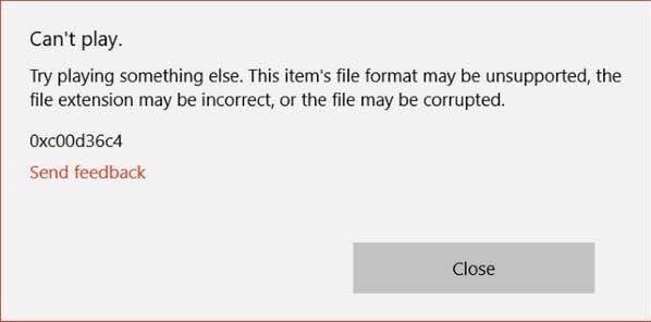 error 0xc00d36c4