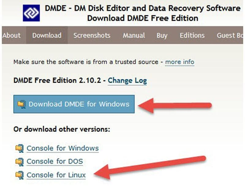 DM Disk Editor recovery software