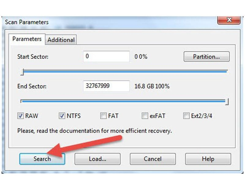 selecting partition for windows