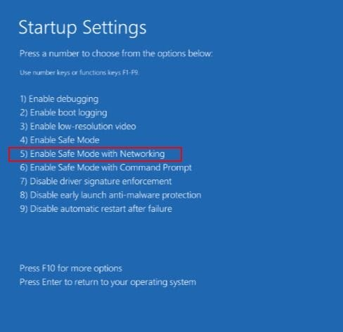 choose-enable-safe-mode-with-networking-option