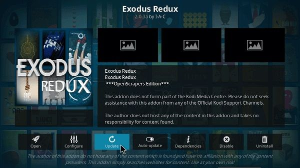 update exodus kodi
