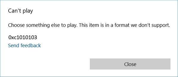 Error 0xc1010103 Message