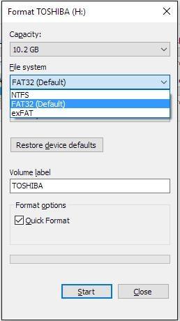 Formatieren zu ntfs-Datei-Explorer