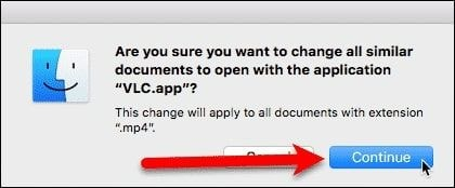 click continue to apply changes