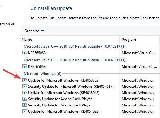 remove problematic updates 4