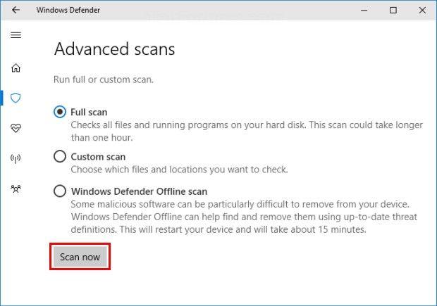 run antivirus scan 2