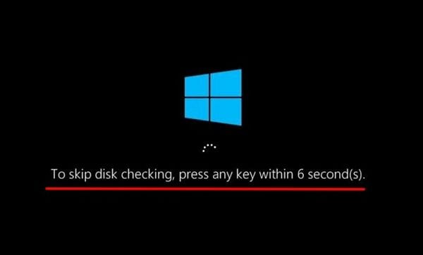 skipping-disk-checking-window