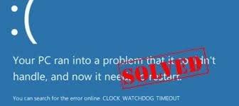 stop code clock watchdog timeout