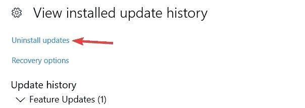 disinstallare aggiornamenti recenti di windows 2