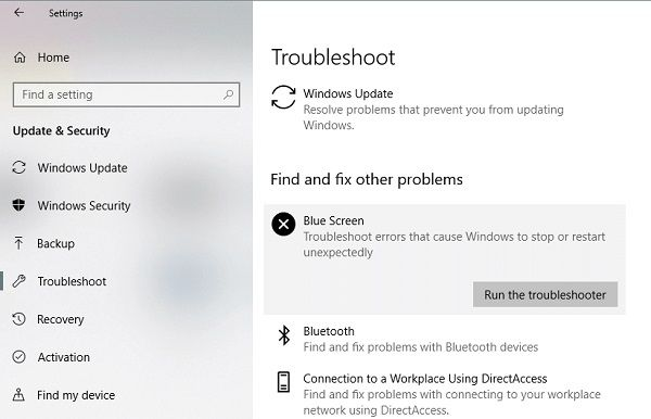 Launch Windows Troubleshooter