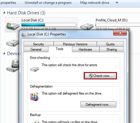 Check Disk Windows