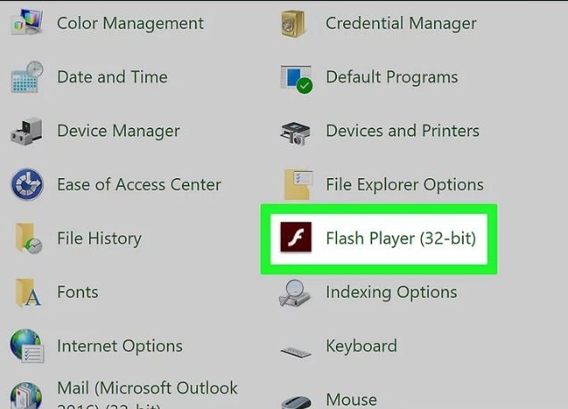 find flash player