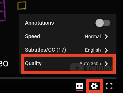 youtube video quality switch