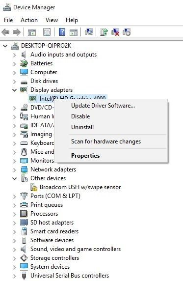 select update driver software