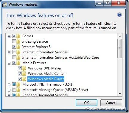 Windows Media Player neuinstallieren