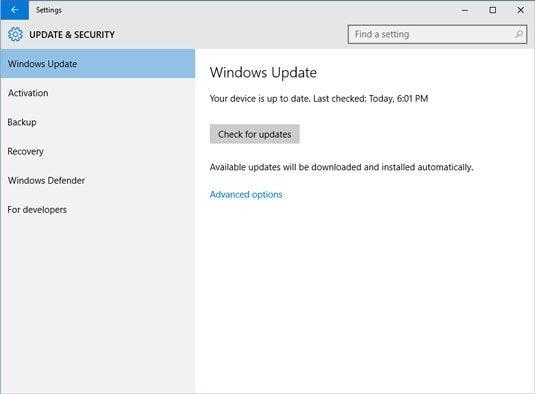 Windows aktualisieren