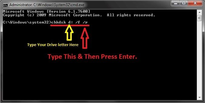 chkdsk commands