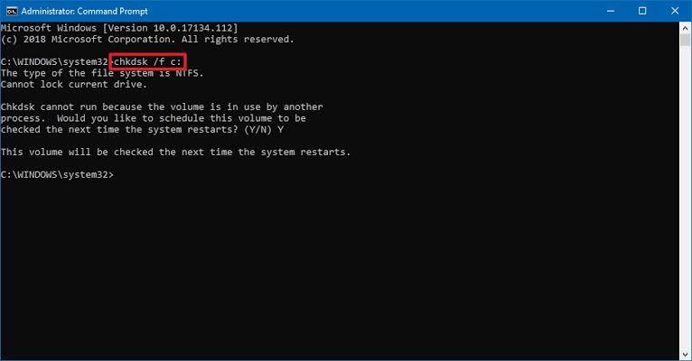 chkdsk scan utility 1