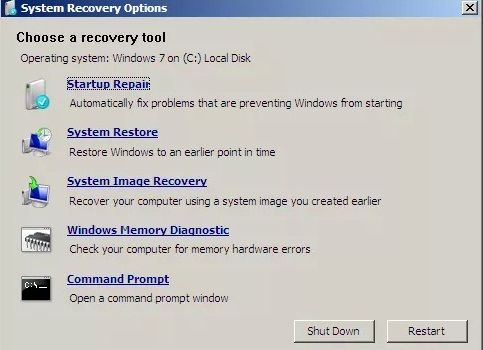 choose recovery tool