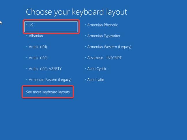 choose the keyboard