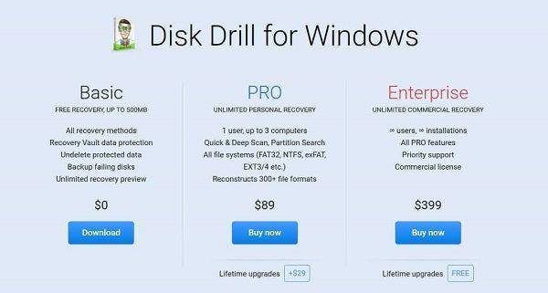 Disk Drill Pro vs Basic