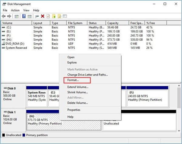 format-the volume-with-disk-management-1