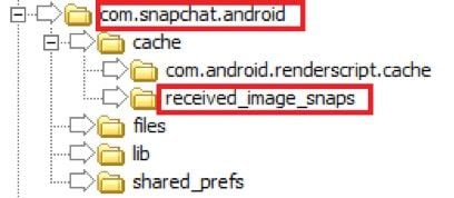 recover snapchat photos on android