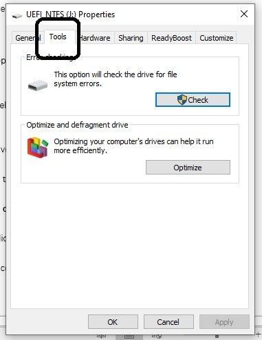 open tool tab