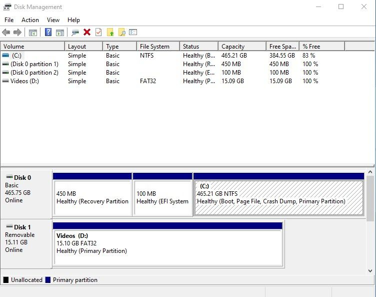 exfat format with disk management