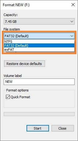 fat32 system