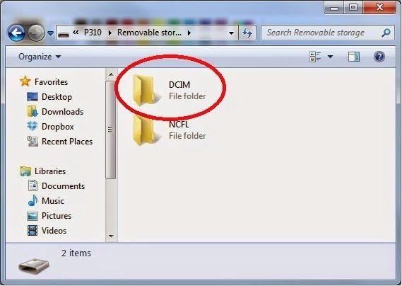 view dcim folder on windows