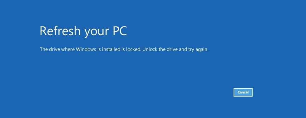 windows drive locked