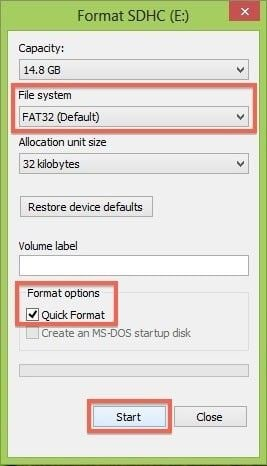 format sd card for canon in windows step 2