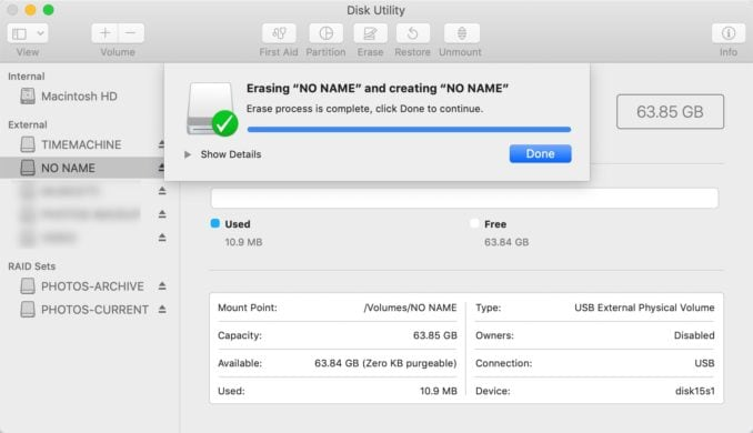format sd card for canon on Mac