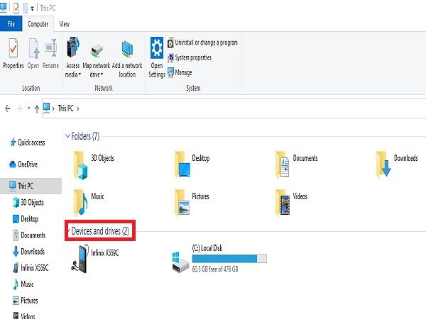 Expand Devices and Drives