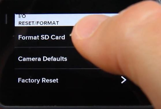 select  format sd card