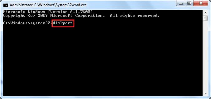 type diskpart