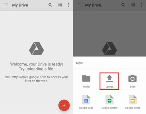 google drive sd card backup