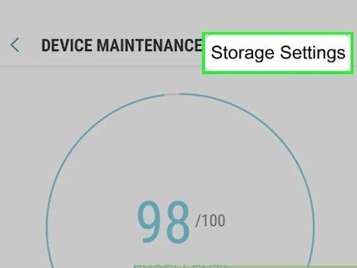 select storage settings