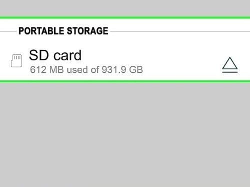select SD card