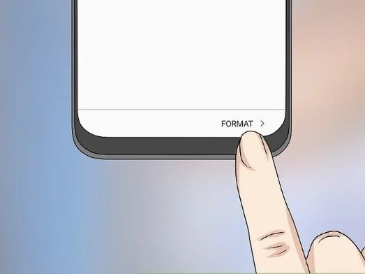 select format to confirm