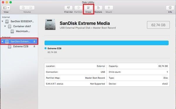 format memory card mac