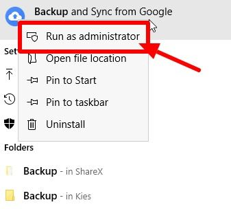 run-backup-and-sync-as-administrator