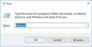 open diskpart windows