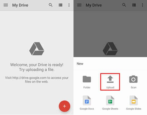 Backup SD to Google Drive