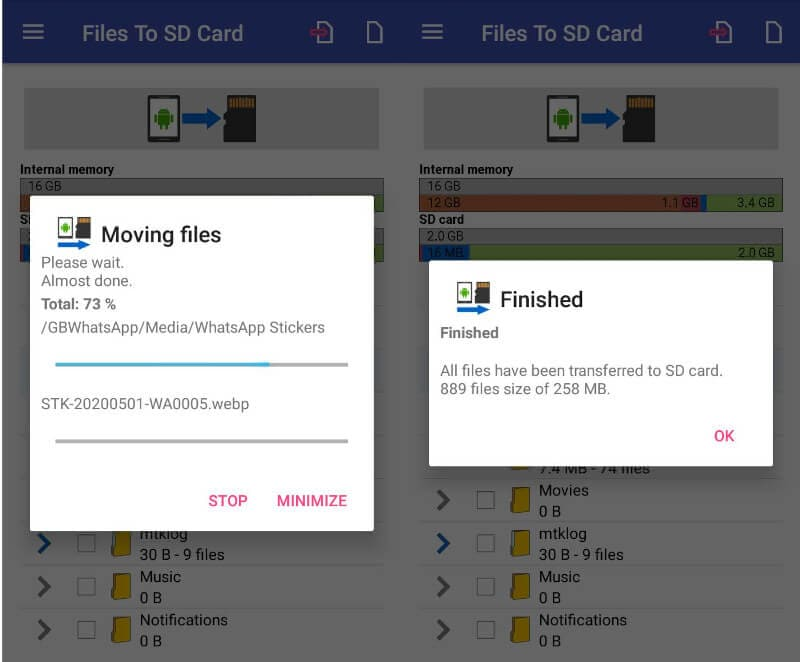 Transfer Files to SD Card