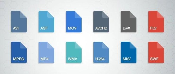 Different video file formats